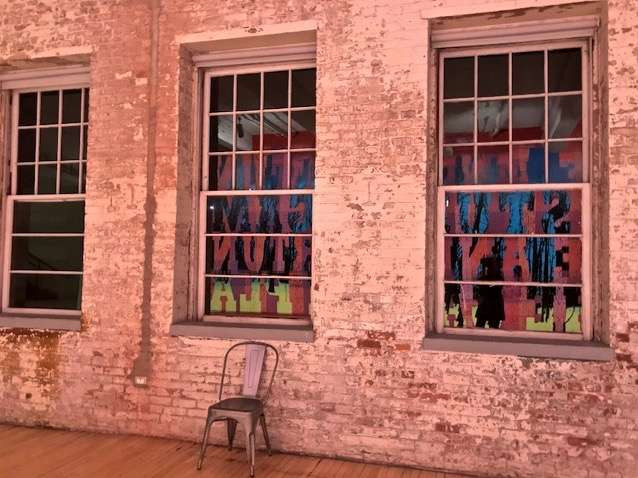 .. a visit to MASS MoCA in August 2020, during a brief period when the museum was both open and allowing New Yorkers to come…. this reflection in a sculpture is a good portrait of how this pandemic is feeling